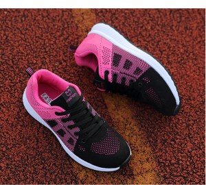black and pink shoes