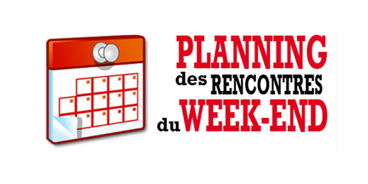 Programme du Weekend 14 et 15 mai 2019