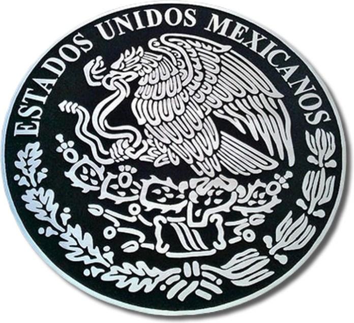 fundicion escudo nacional en aluminio