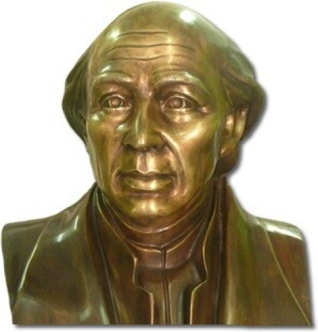 busto fundido en bronce miguel hidalgo