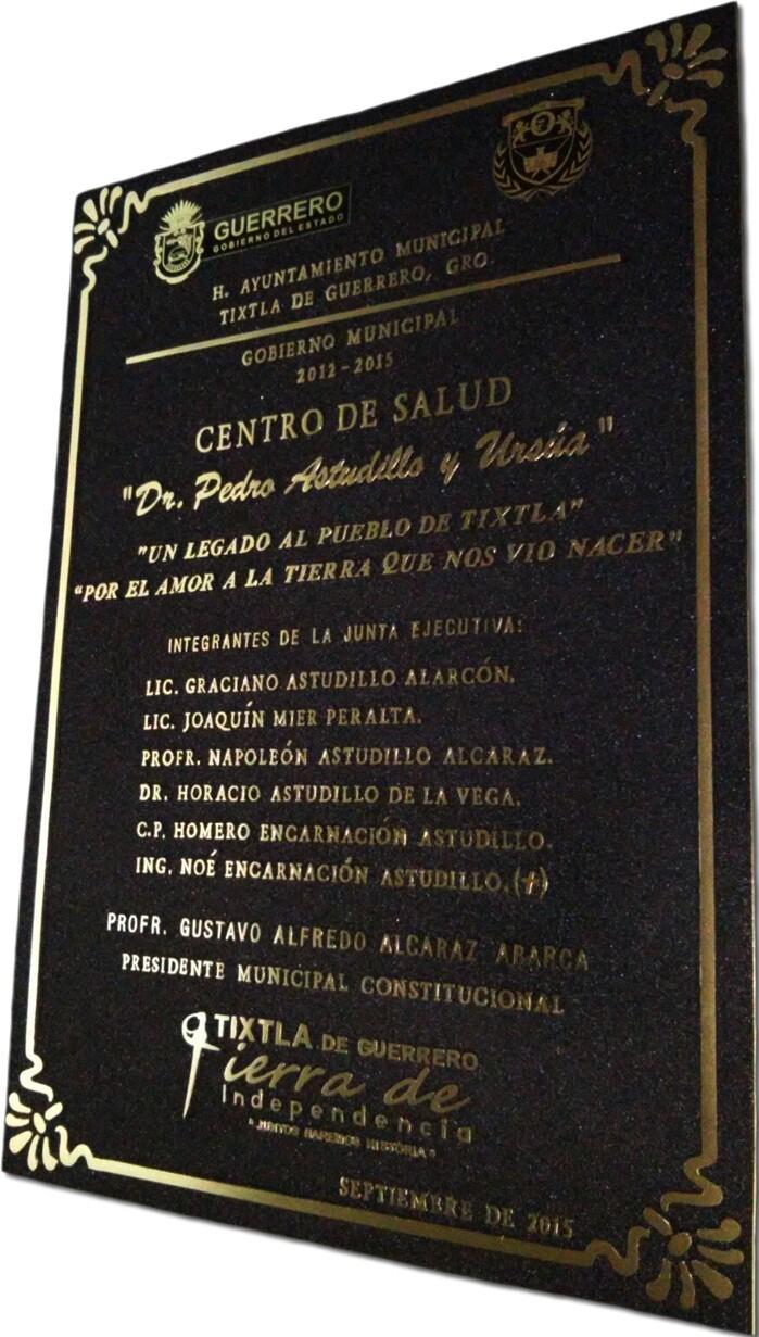 placas conmemorativas de bronce