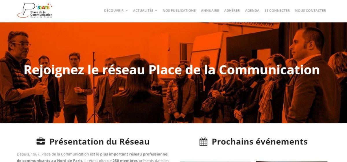Le site internet de Place de la Communication