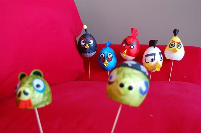 Faites vos propres Angry Birds de Pâques !