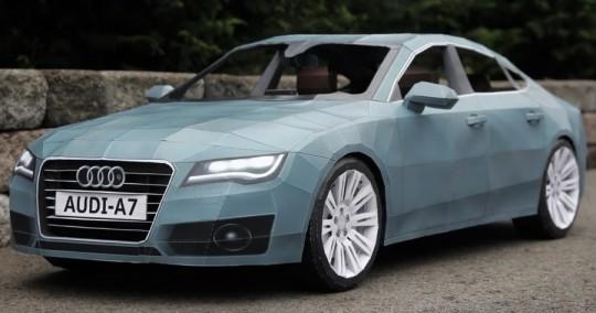 Une Audi A7 entièrement réalisée en papier !