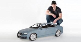 Une Audi A7 en papier