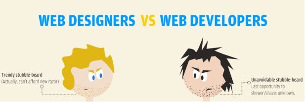 infographie - web designer vs web dev