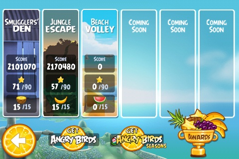 Angry Birds RIO Beach Volley est disponible