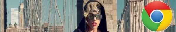 Lady Gaga utilise Google Chrome
