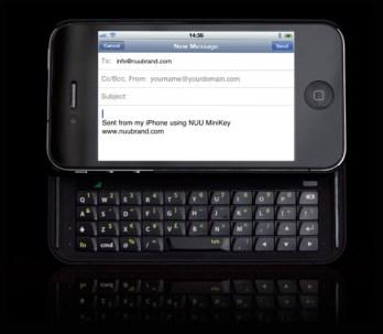 Nuu Minikey un clavier coulissant pour votre Iphone 4