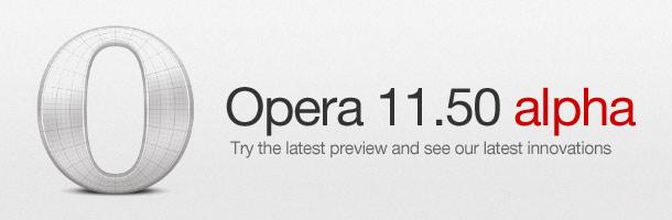 Opera 11.50 Alpha