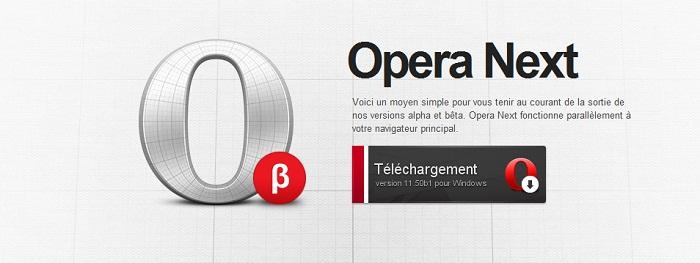 Opera 11.50 est disponible en version beta