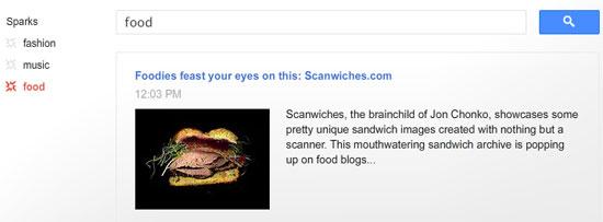Google Plus : Sparks