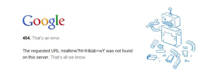 Google suspend la recherche en temps réel