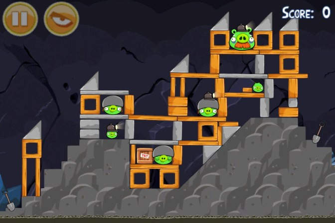 Angry Birds Mine And Dine niveau 17-1