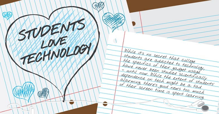 Infographie : Les étudiants et la technologie
