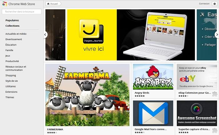 Nouveau Google Chrome WebStore