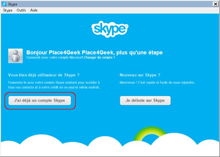 Skype Fusion Start