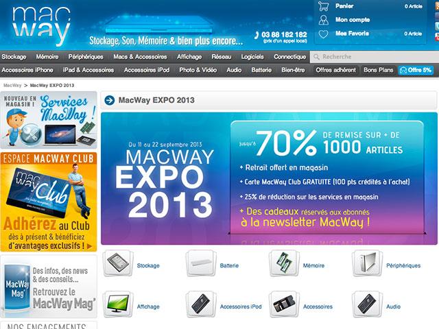 Des promos et un grand concours pour la Macway Expo 2013
