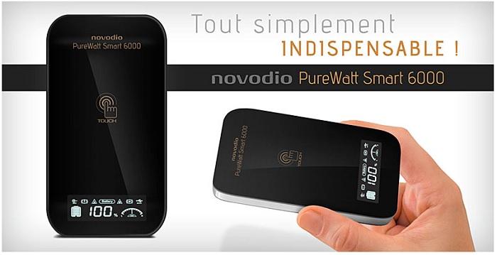 Test de la batterie externe Novodio PureWatt Smart 6000 + Concours !