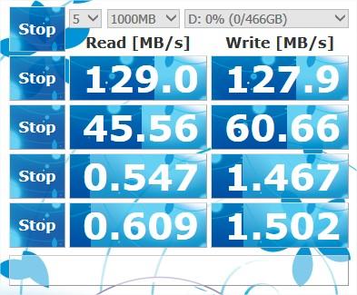 Test de vitesse en USB 3 avec un HDD
