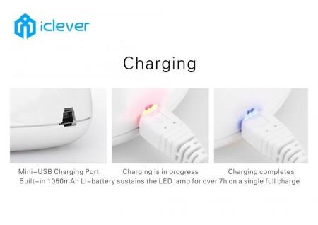 Test de la lampe de table pliable LED USB iClever