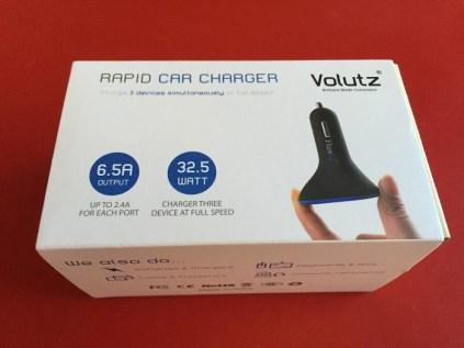 Test du chargeur voiture Volutz 3 ports USB de 6,5 A
