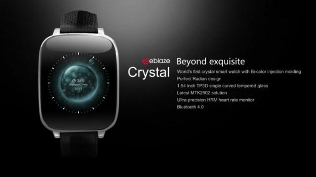 Zeblaze Crystal une montre connecté abordable