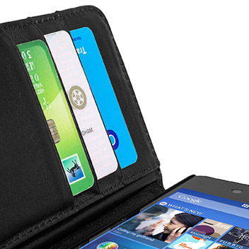 Une housse portefeuille en cuir pour votre Xperia Z3+