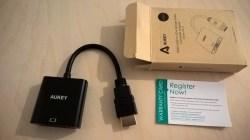 Test de l'adaptateur HDMI vers VGA 1080P d'Aukey