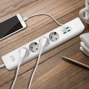 Test de la multiprise Aukey : 4 prises + 4 ports USB