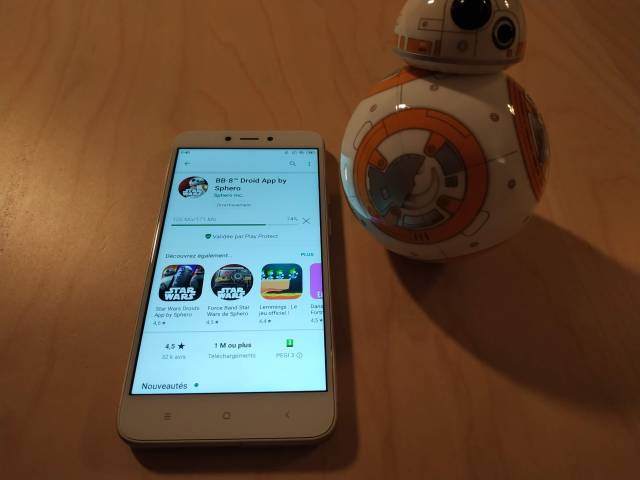 Test du robot connecté Sphero Star Wars BB-8