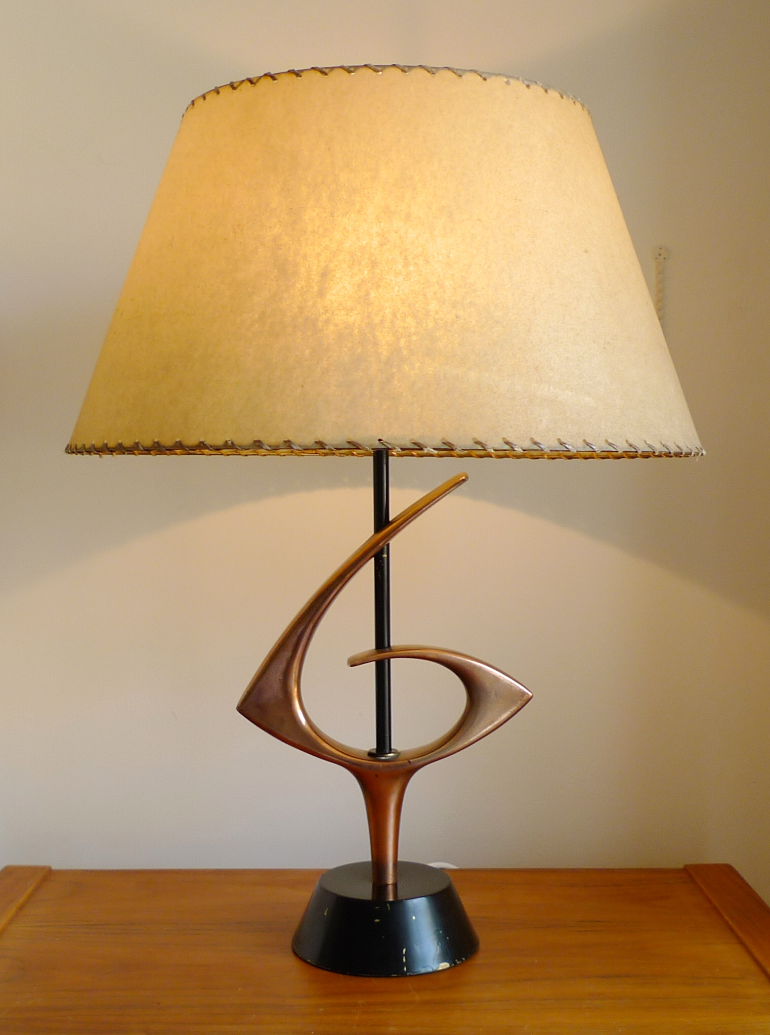 1950 S Rembrandt Table Lamp With Fibreglass Shade