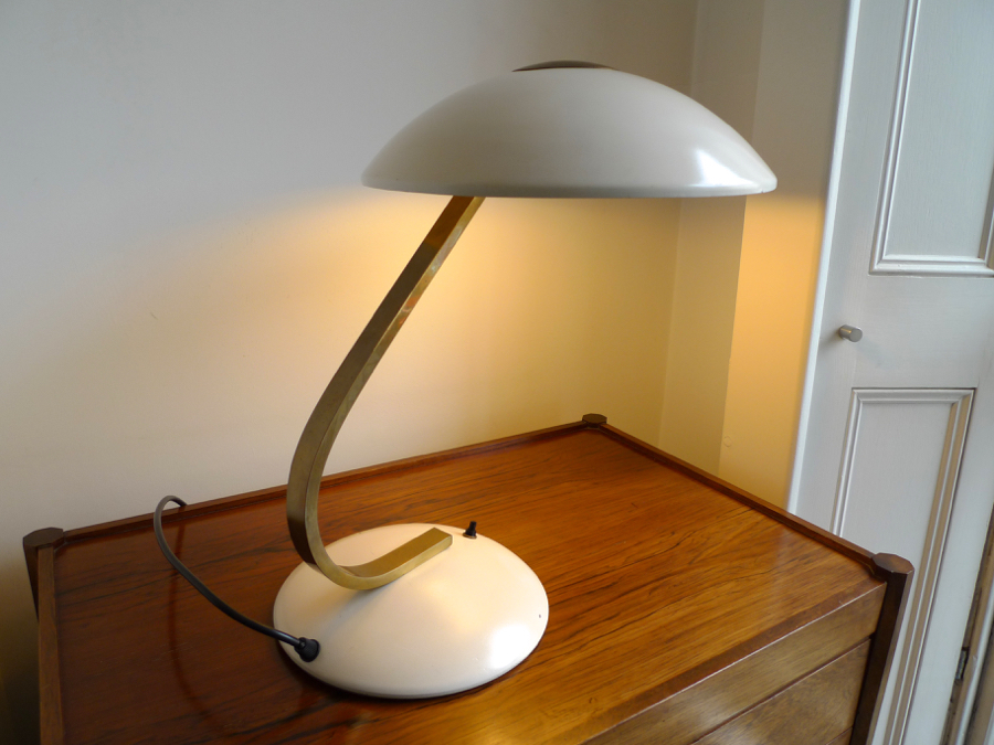 german bauhaus table lamp by sis licht c 1930 40s place called space. Black Bedroom Furniture Sets. Home Design Ideas