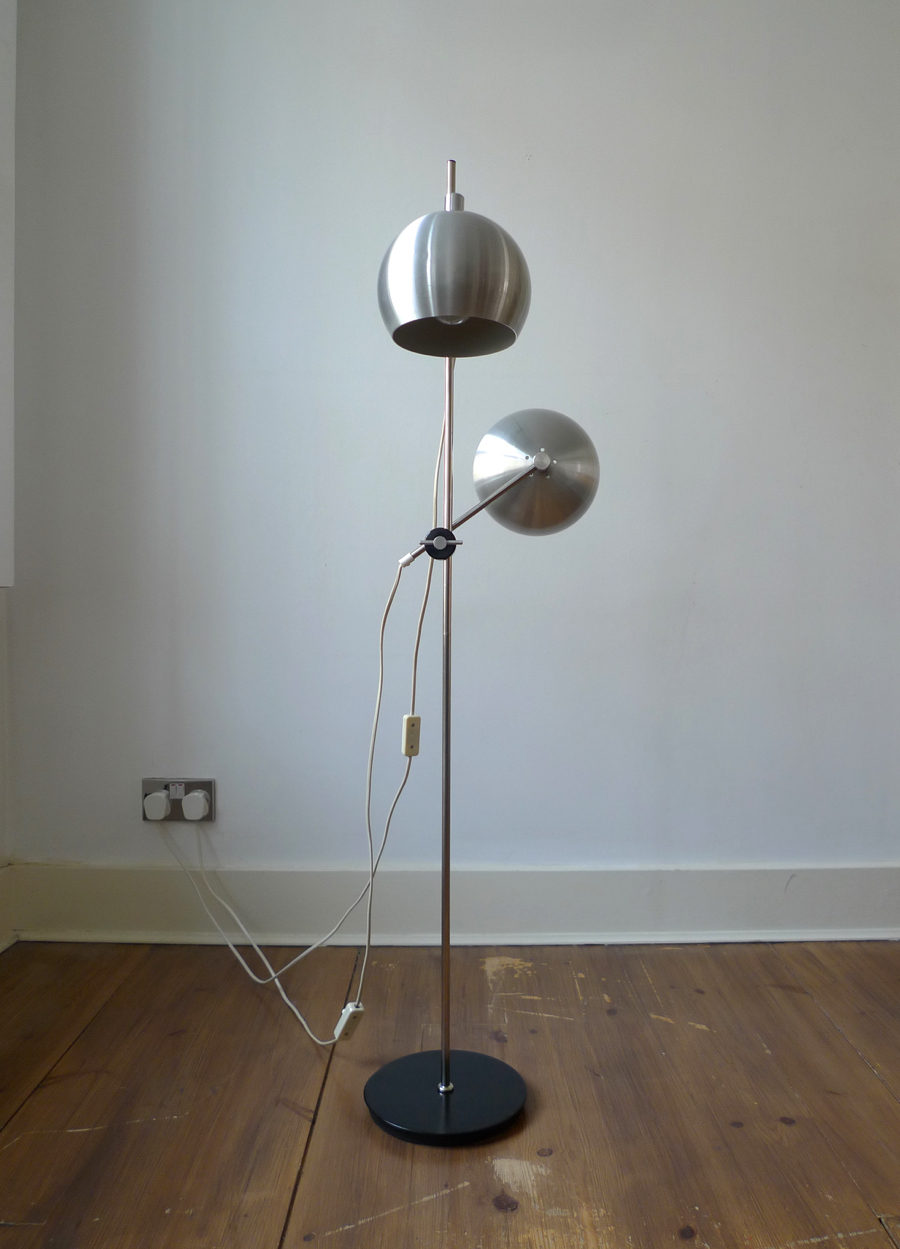 Benny Frandsen Two Light Danish Floor Lamp C 1970 S