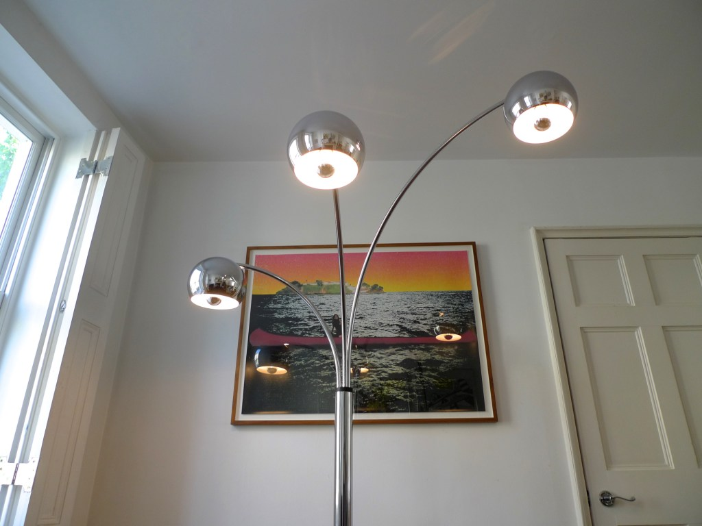 Mid 20th Century 3 Arm Arc Floor Lamp 1970s Place