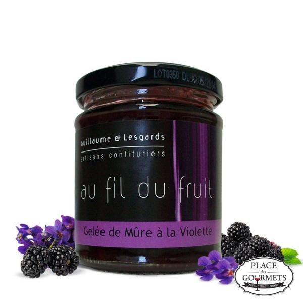 confiture de mure a la violette domaine guillaume lesgards au fil du fruit