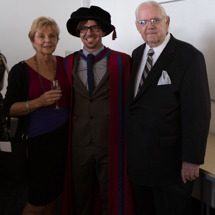 Bradley Garrett with his parents