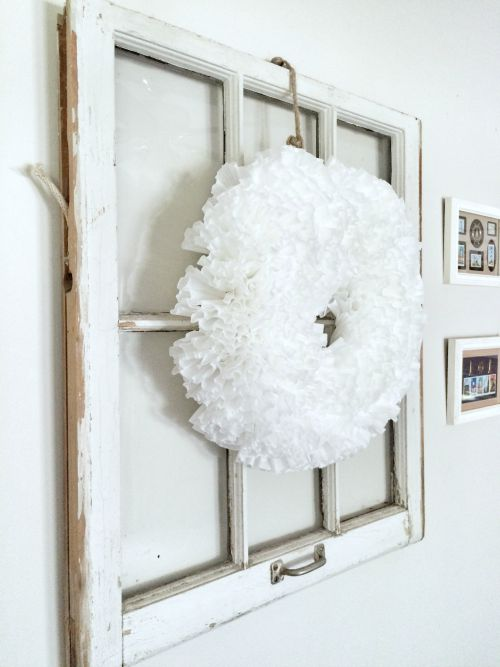 Easy and Cheap Coffee Filter Wreath