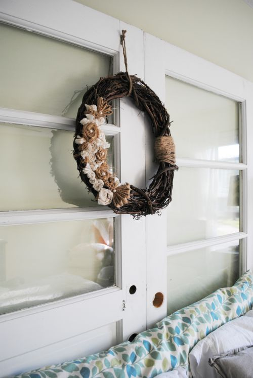 Headboard and Wreath