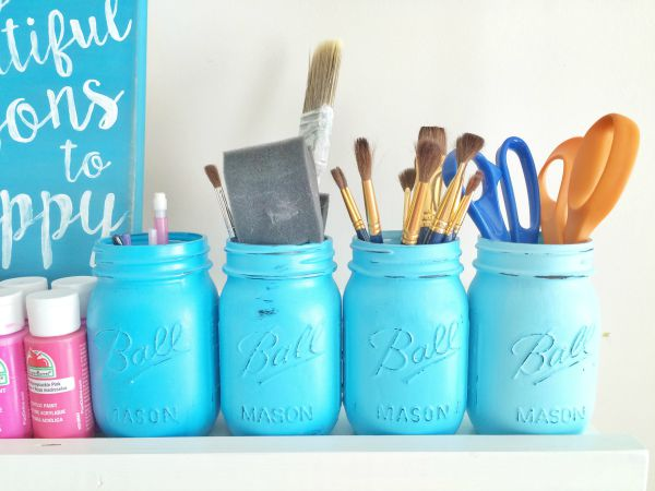 Painted Jar Organizers