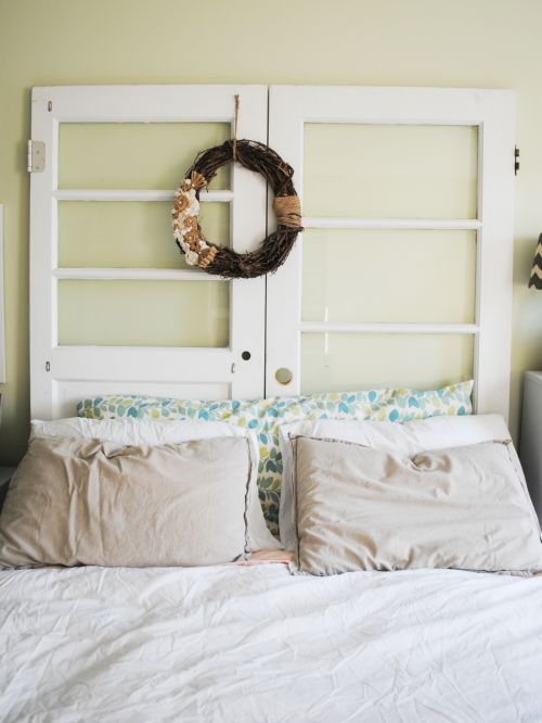 Rustic Mis matched Door Headboard
