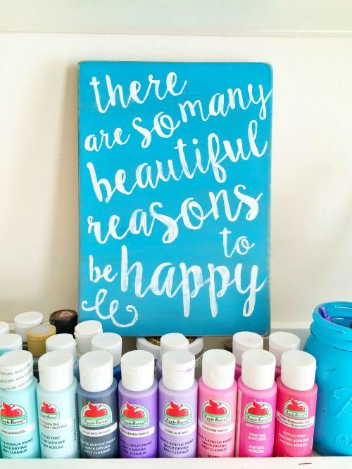 So many reasons to be happy