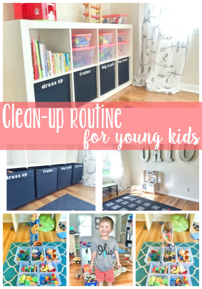 Playroom Clean-up Routine for Young Kids