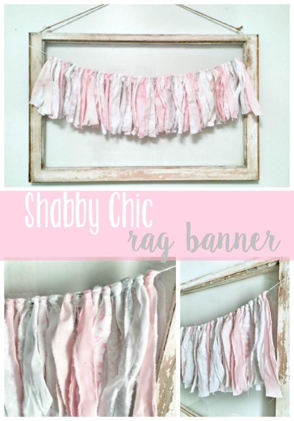 Shabby Chic Rag Banner