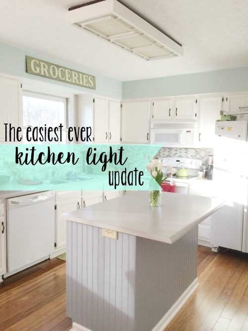 The Easiest Ever Kitchen Light Update