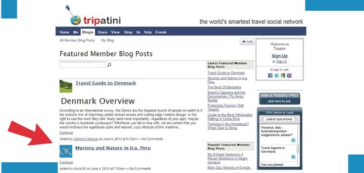 Post destacado en mayo del 2013 en Tripatini.com Featured post in May by Tripatini.com