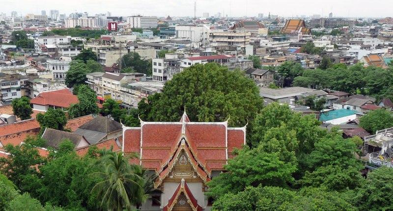 Blick über die Dächer Bangkoks