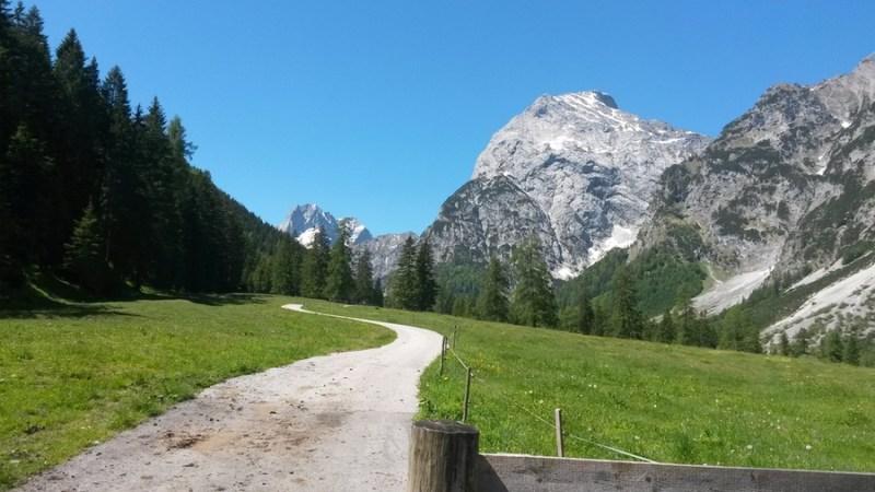 Wanderweg Richtung Gramai Alm