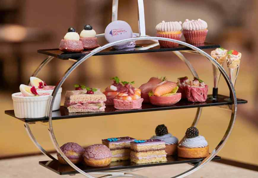 The Fullerton Hotels Singapore Dedicated Purple Afternoon Tea For International Women's Day