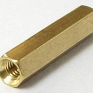 Cilindro in ottone esagonale da 20 pezzi da 10 pezzi - dorato
